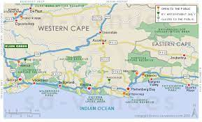 map of the garden route garden route