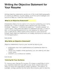 Best Resume Objective Lines Good Objectives On Resumes How Write A