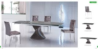 Wondrous Rectangle Grey Gloss Modern Dining Table With Unique Arts ...