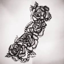 Rose And Pearl Tattoo