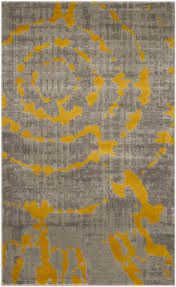 safavieh porcello prl7735 light grey yellow area rug