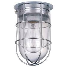 canarm ceiling wall barn light with cage 120v 100 watts model