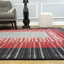 red black and cream area rug designs striped rubber backed