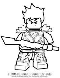 Small Picture Lego Ninjago Coloring Sheets Lego Ninjago Kai Coloring Pages