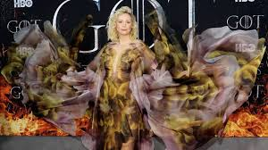 gwendoline christie ruled the game of thrones in a gown of ice and fire