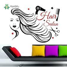 wall decal high quality hair salon girl sticker barber beauty interior decor hair salon wall decals
