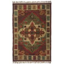 signature styles red area rug 8x10 cotton in red