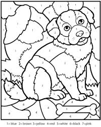 Small Picture Color By Number Sheets Coloring Page