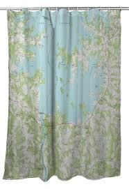 Nc Lake Norman South Nc 1970 Topo Map Shower Curtain In
