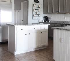 a year in review of my painted laminate cabinets