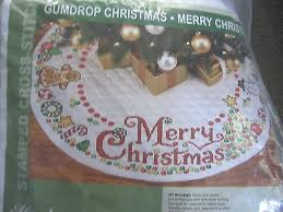 Cross Stitch Kits collection on eBay! & NEW stampd Cross stitch GUMDROP MERRY CHRISTMAS Xmas TREE SKIRT KIT quilted Adamdwight.com