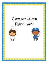 Community Helpers Chart Pdf Community Helpers Flash Cards Worksheets Teachers Pay