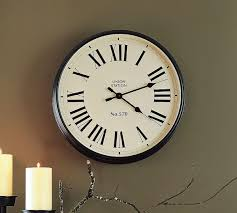 ... Surprising Clocks Pottery Barn Pottery Barn Union Station Clock White  Wall Light Hinging: ...