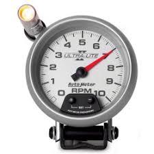 gauges ultra lite ii 3 3 4 pedestal tachometer 0 10 000 rpm ultra lite ii