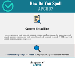 Over the phone or military radio). Correct Spelling For Apcod Infographic Spellchecker Net