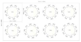 inch round tables seat how many table seats dining 60 diameter inc