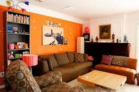 Contemporary Orange Living Room
