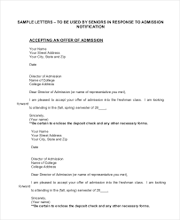 Offer Letter Acceptance Mail Format 16 Acceptance Letters Free Sample Example Format Free