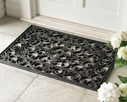 outdoor front door matsFleurdelys Rubber Doormats and Stair Treads  Williams Sonoma