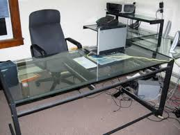 glass top desk office depot. image of glassushapeddeskofficedepot glass top desk office depot n