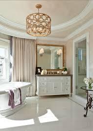 bathroom master bathroom ideas a marble clad master bath that features custom cabinetry bathroom chandelier lighting ideas