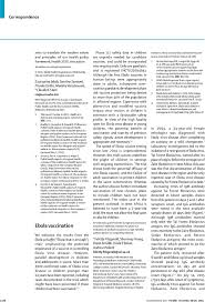 ebola vaccination the lancet first page of article