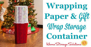 This Wrapping Paper And Gift Wrap Storage Container Is An Ideal Way To  Organize Long Rolls  I36