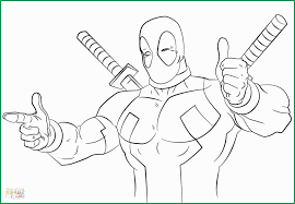 Print Color Pages Cheap Amazing Deadpool Coloring Pages Printable