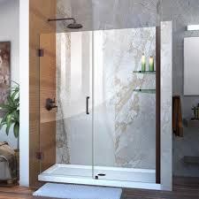 x 72 in frameless hinged shower door