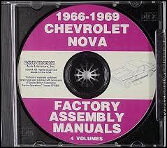 1966 chevy ii nova wiring diagram manual reprint cd rom 1966 1969 chevy ii and nova assembly manual