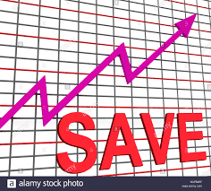 Save Chart Graph Showing Increasing Savings Investment Stock