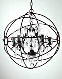 chandeliers iron orb chandelier black antique 3 light concentric mixed captivating large
