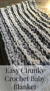 Free Crochet Blanket Patterns Magnificent Chunky Crochet Baby Blanket With FREE PATTERN