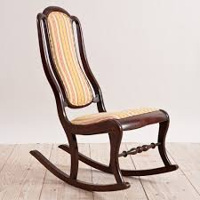antique american second empire rocking chair c 1860