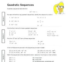 Arithmetic Sequence Worksheet Answers Understanding Sequence Worksheets Patterns And Sequences