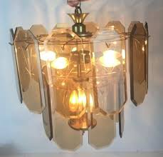 beveled starburst amber glass panel lamp chandelier w cord replacement 2