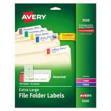 X Large 1 3 Cut File Folder Labels W Trueblock 15 16 X 3 7