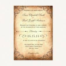 Vintage Wedding Invitation Vintage Rustic Wedding Invitations With Vintage Flourishes