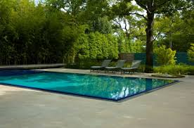 modern pool designs and landscaping. Fancy Rectangle Pool Designs In Contemporary Style With Lounge Chairs Plus Shade Green Plants And Modern Landscaping O
