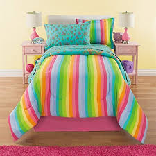 6 piece girls unicorn rainbow comforter