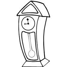 Disegno Di Orologio A Pendolo Da Colorare Per Bambini