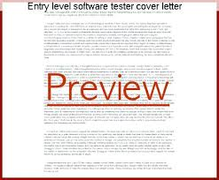 Cover Letter Software Engineer Entry Level Software Tester Cover Letter Entry Level Software Tester Cover