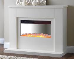 stylish white electric fireplace tv stand