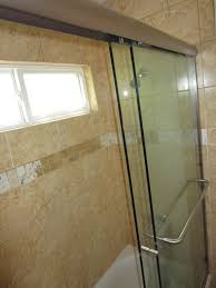 3 8 glass sliding bi pass shower door
