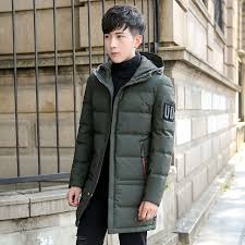 2018 winter plus size mens long section white duck down jacket with hood windproof waterproof breathable