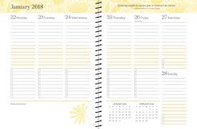 monthly weekly calendar posh happy living 2017 2018 monthly weekly planner calendar