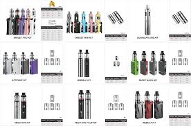 E Cig Compatibility Chart Overview Of Coil Compatibility Available Now