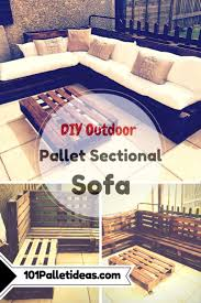 diy outdoor pallet sectional. Outdoor #Pallet Sectional #Sofa | 101 Pallet Ideas Diy H