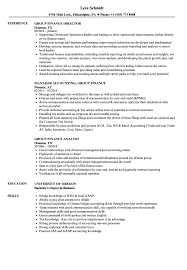 Group Finance Resume Samples Velvet Jobs