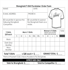 Fundraising Order Form Templates Other Size S Business Order Form Template Credit Application